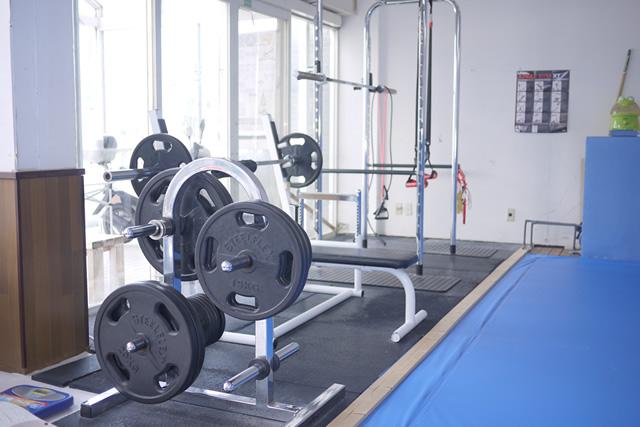 自由に使えるトレーニング器具